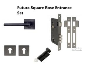 Square Rose Lever Entrance Kits